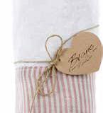 Coppia asciugamani bordo rigato rosa